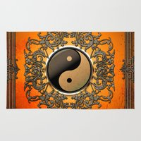 ying yang Area & Throw Rugs featuring Ying and yang by nicky2342