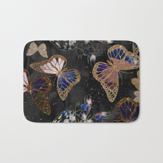 Cosmic Butterflies Bath Mat