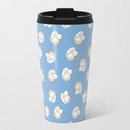 Cotton Blossom Toss in Carolina Blue Travel Mug
