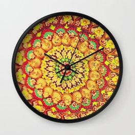 Mandala on copper plate 3 Wall Clock