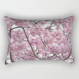 Cherry Blossom Trees. Pink flowers Rectangular Pillow