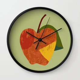 Textured plain apple Wall Clock