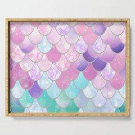 Mermaid Sweet Dreams, Pastel, Pink, Purple, Teal Serving Tray