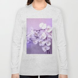Orchids Covered In Violet Mist Long Sleeve T-shirt