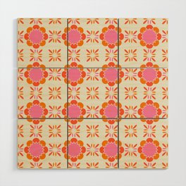 Sixties Tile Wood Wall Art