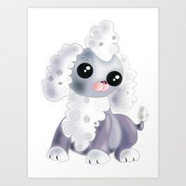 Cute Small Puppy Art Print