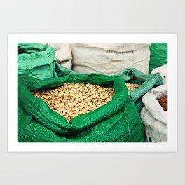 Pumpkin Seeds at the Market Art Print
