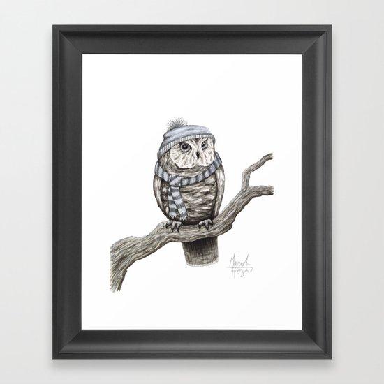 Scarf Owl Framed Art Print