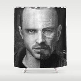Jesse White/Walter Pinkman Shower Curtain
