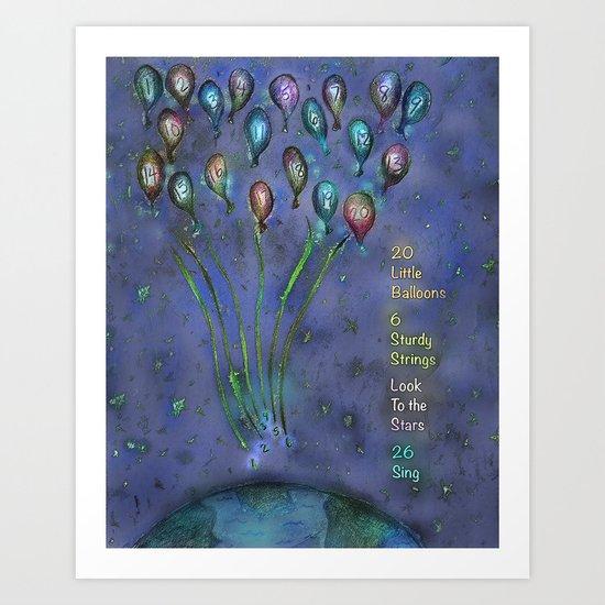 20 Little Balloons Art Print