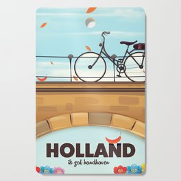 Holland Bicycle travel poster Cutting Board