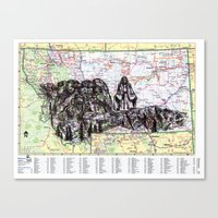 montana Canvas Prints featuring Montana by Ursula Rodgers