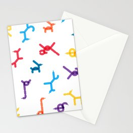Balloon animals pattern #1 Stationery Cards
