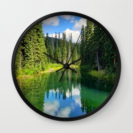 Pacific North West Alpine Lake Wall Clock