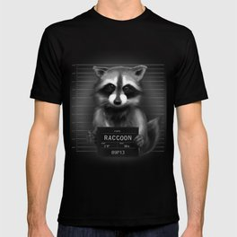 Raccoon Mugshot T-shirt
