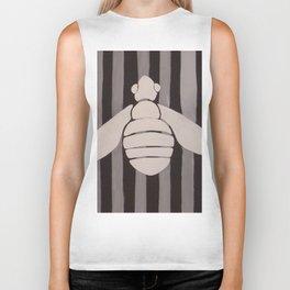 Halloween Bee with Stripes Biker Tank