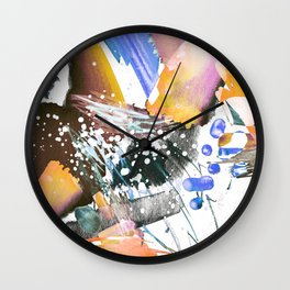 Colorful watercolor sketch Wall Clock