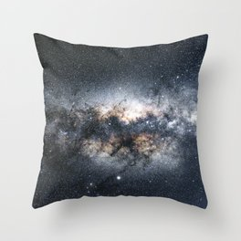 Milky Way Galaxy Stars Night Sky Throw Pillow