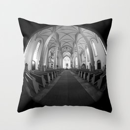St. Mary's Church St. Mary's parish church in Torgau BW Throw Pillow