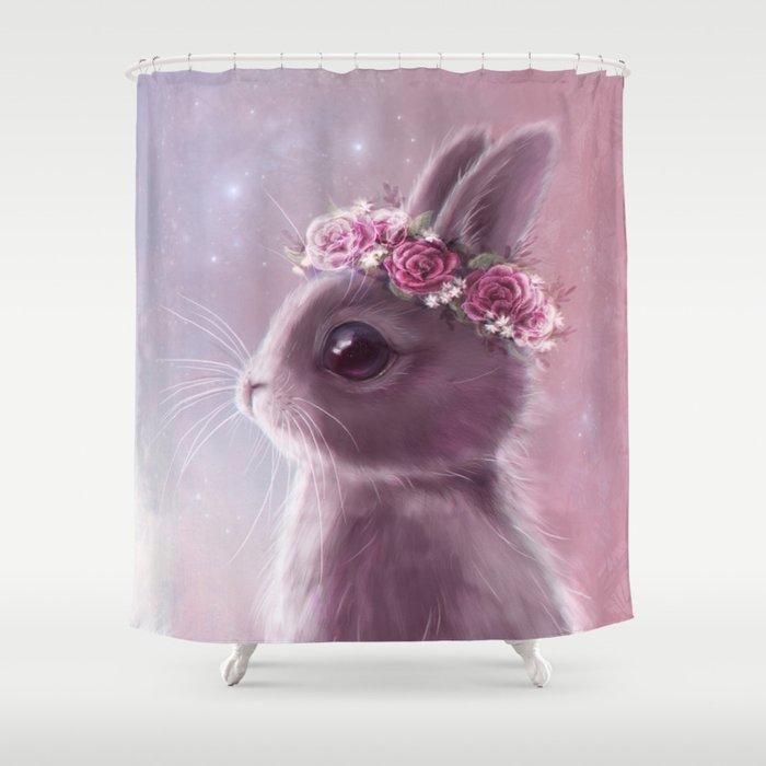 Fairy Bunny Shower Curtain By Ariaillustration