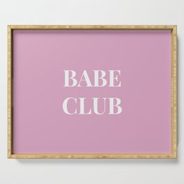 Babeclub pink Serving Tray