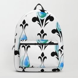 Dark Blue Splash Pattern Backpack