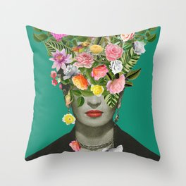 Frida Floral Throw Pillow