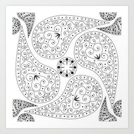 Black & White Coordination Art Print