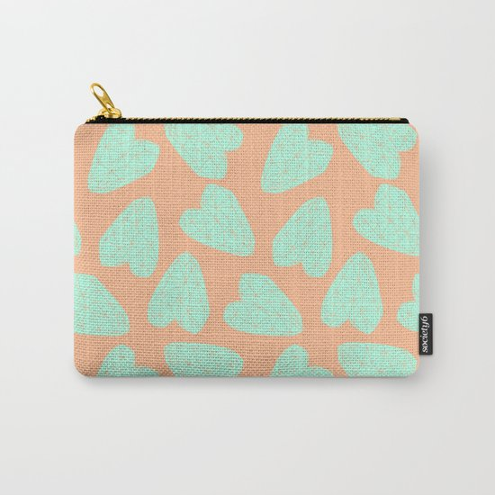 Pastel Hearts Pattern (Love) Carry-All Pouch