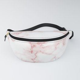 Pink Rose Gold Marble Natural Stone Gold Metallic Veining White Quartz Fanny Pack