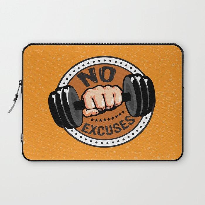 d2d21e8cb80ce No Excuses Gym Fitness Motivational Quote Laptop Sleeve by creativeideaz