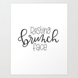 Resting Brunch Face Art Print