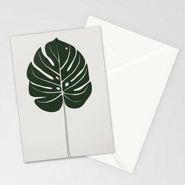 Split Philodendron Leaf Illustration Stationery Cards