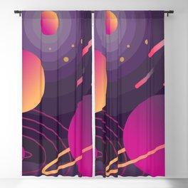 Purple Universe Blackout Curtain