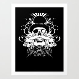 and my moustache shall be my legacy Art Print
