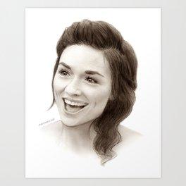 Crystal Reed (Allison Argent) Art Print
