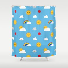 Kawaii Skies Shower Curtain