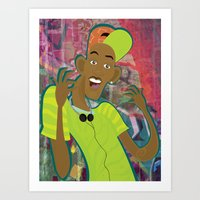 fresh prince Art Prints featuring fresh prince by Michelle Pine