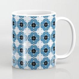 Retro blooming in blue  Coffee Mug