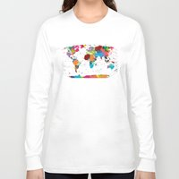 map Long Sleeve T-shirts featuring map by ron ashkenazi