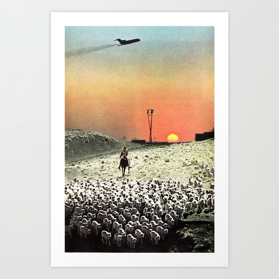 Sheep Flights For The Humdrum Jetset Art Print