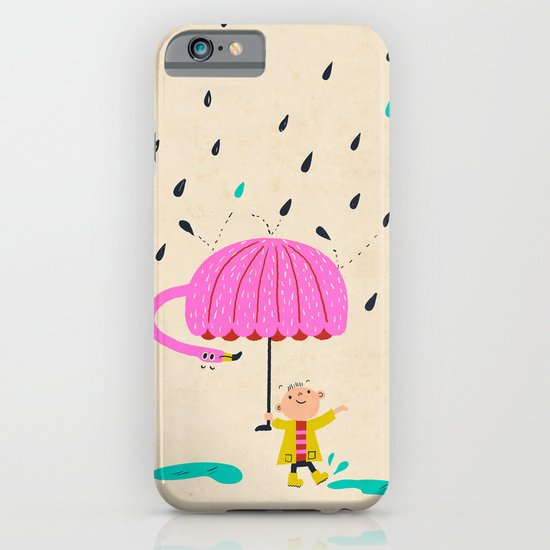 one of the many uses of a flamingo - umbrella iPhone & iPod Case