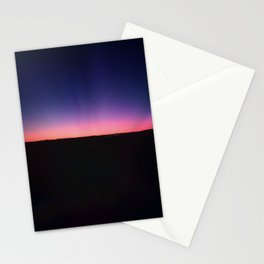 galaxy sunset Stationery Cards