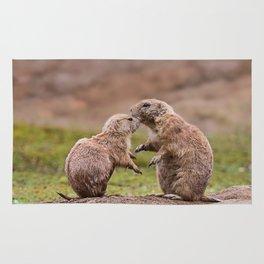 Cute little prairie dogs love Rug
