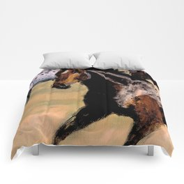 Galloping Horse Close-Up Comforters
