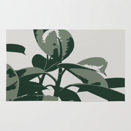 Retro House Plant Rug