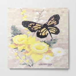 Butterfly Visit Metal Print