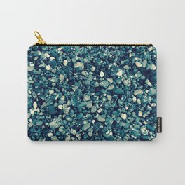 Pebbles in Blueish Carry-All Pouch
