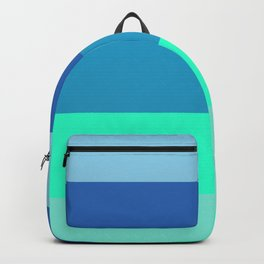 Summer strong geometric vertical graphic lines for home, office, beach house, farm house decoration Backpack