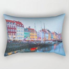 The Quay at Nyhavn, Copenhagen, Denmark Rectangular Pillow